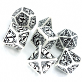 White & Black Steampunk Dice Set
